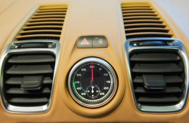 car interior close up
