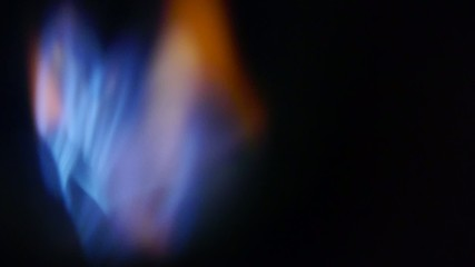 ignition gas - blue flames - active furnace - active furnace