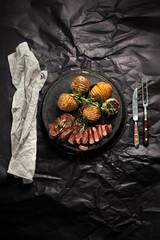 Steak mit bratkartoffel