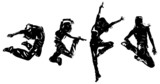 Fototapety Young woman dancers jumping