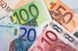 Euro banknotes with various denomination - 78081075