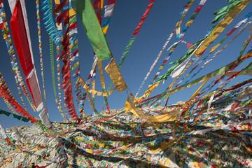 Flags prayers, Tibet