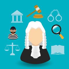 Law design, vector illustration.