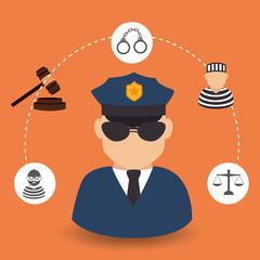Law design, vector illustration.
