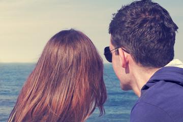 Couple enjoyinh the sea/ocean view