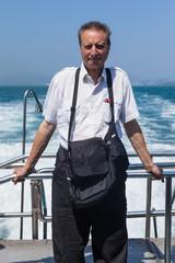 Elder man on vacation