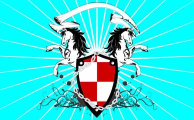 heraldic horse coat of arms background3
