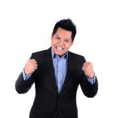 happy businessman of his success