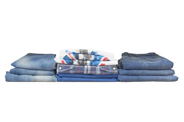 folded clothes, isolated on a white background