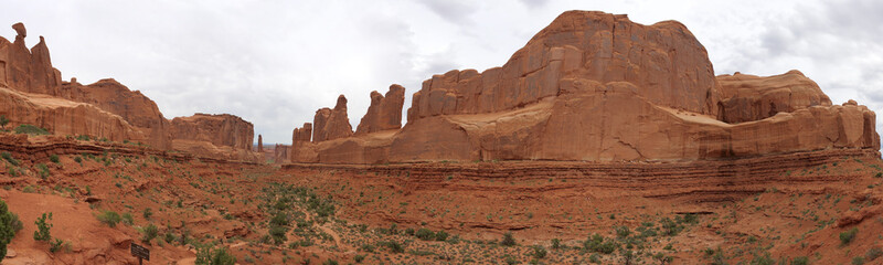 Panorama View of Park Avenue, Arches National Park
