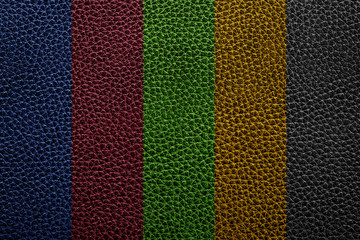 colorful leather texture of sofa