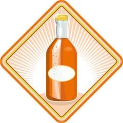 Orange Soda Bottle Diamond Retro