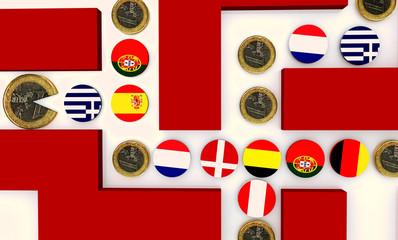 euro eats othes european coins like pcman game