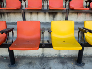 Red and Yellow Stadium Chair