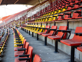 Stadium Chairs in Yellow and Red