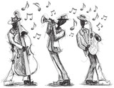 Jazz band doodles - 78087233