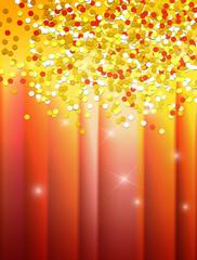 Carnival confetti background. Raster