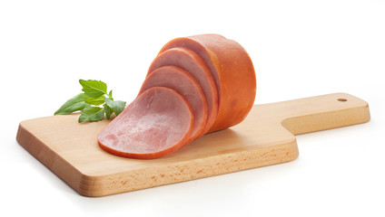 Ham on the wooden board