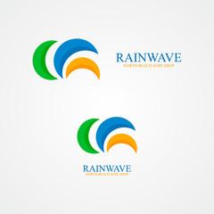 Set of abstract semicircle logo