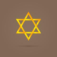 Vector illustration of golden Magen David