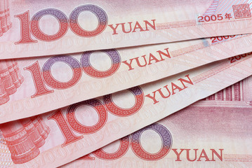 Chinese yuan notes or bills
