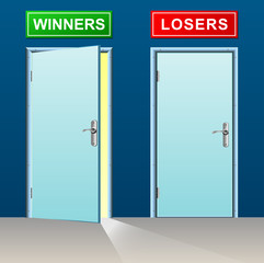winners and losers doors