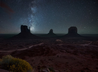 Night in Monument Valley