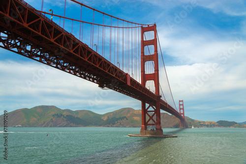 Poster, Tablou The famous Golden Gate Bridge in San Francisco California
