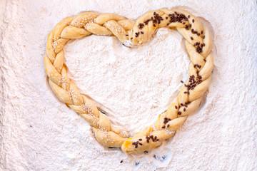 heart shape  pastry