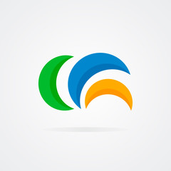 Abstract semicircle design  logo