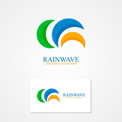 Set of semicircle logo for design template elements.