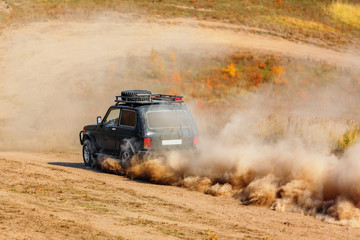 Offroad vehicle on rally competition