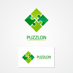 Vector puzzle design logo