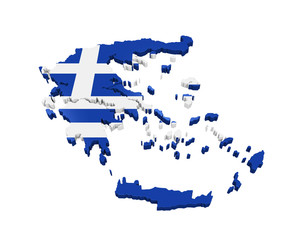 Greece Map Isolated