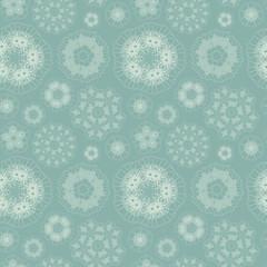elegant geometric floral seamless pattern
