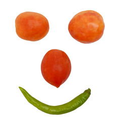 Tomatoes and Chile Smiley Face