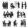 Teamwork Icons Black