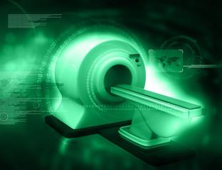 3d render of CT Scanner on digital background