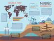 Mining Infographics Set - 78094606