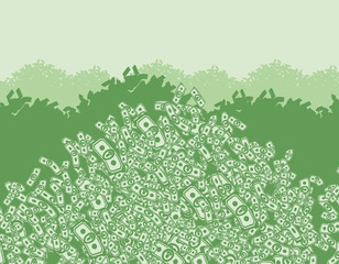 mountain of money, lots of money, wealth, bunch money, money bac