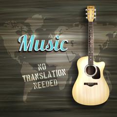 Guitar Wooden Backround
