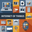 Internet of things flat icons composition - 78094849