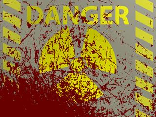 illustration of radiation danger