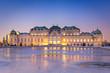 Leinwandbild Motiv Schloss Belvedere zur Winterzeit, Wien