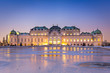 Leinwanddruck Bild - Schloss Belvedere zur Winterzeit, Wien