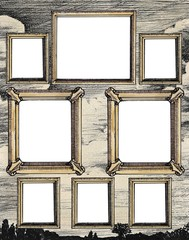 Gallery of vintage frames