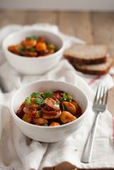 beans with chorizo