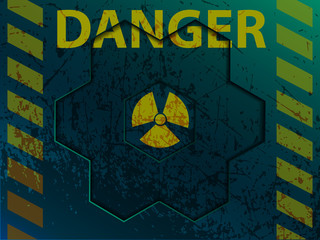 illustration of radiation danger