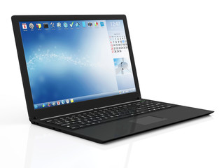 Modern Touchscreen Laptop with Rotating Display
