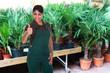Female Gardener Showing Thumb Up